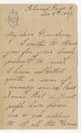 Julia Grant to Grandma, December 8, 1889
