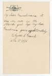 Ulysses S. Grant to Grandmama, May 5, 1889