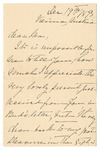 Ida Honoré Grant to Ma, December 19, 1890