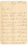 Ida H. Grant to Ma, January 14, 1891