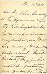 [Ida Honoré Grant] to Sis, December 14, 1891