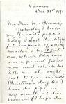Frederick D. Grant to Mrs. Honoré, December 22, 1891