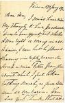 Ida H. Grant to Ma, January 29, 1892