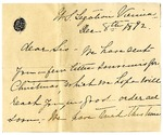 Ida H. Grant to Sis, December 8, 1892