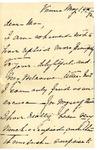 Ida Honoré Grant to Ma, May 14, 1892