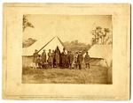 Brady's Album Gallery. No. 605. Group of President Lincoln, Gen. McClellan, and Suite