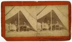President Lincoln and Gen. McClellan in McClellan's Tent