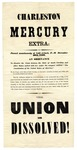 Charleston Mercury Extra: The Union Is Dissolved
