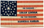 Campaign Flag for 1860 Presidential Campaign