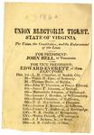 1860 Presidential Election Ticket for John Bell and Edward Everett