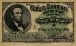 World's Columbian Exposition Chicago Admission Ticket
