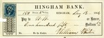 Hingham Bank Check, Paid to W. W., Signed by William Whiton