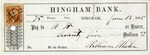 Hingham Bank Check, Paid to W. W., Signed by Williams Whiton