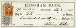Hingham Bank Check, Paid to W W, Signed by William Whiton
