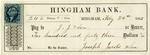 Hingham Bank Check, Paid to J. J. & Son, Signed by Joseph Jacobs & Son