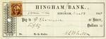 Hingham Bank Check, Paid to [?], Signed by E. L. Whiton