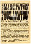 The Annual Celebration of the Signing of the Emancipation Proclamation