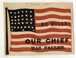 Abraham Lincoln Mourning Flag