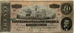 Confederate Currency, Confederate States of America, Twenty Dollars