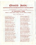 Chronicle Junior Printed in the Inauguration Procession of Lincoln & Johnson