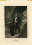 A. Lincoln Steel Engraving