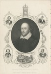 William Shakespeare Engraved by Hollis from the Chandos Portrait