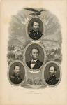 Portrait of Grant, Lincoln, Sheridan, Sherman