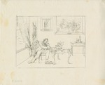 Writing the Emancipation Proclamation (from Confederate War Etchings)