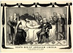 Death Bed of Abraham Lincoln. Died April 15th 1865.