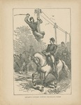 Stuart's Cavalry Cutting Telegraph Wires (from The Life Stories of Famous Americans)