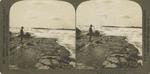 Above the Horseshoe, where the Niagara River rushes on to its awful leap. Niagara Falls, U. S. A.