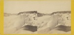 Niagara in Winter. American Fall from the Hog's back, showing the heavy ice mounds.
