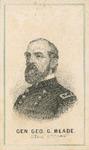 Engraved Portrait of General George Meade