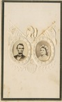 Portrait of Abraham Lincoln and Mary Todd Lincoln on Embossed Card