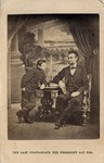 Gardner's Sylvan Background Portrait of Abraham and Tad Lincoln