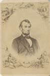 Bust-length Portrait of Abraham Lincoln with Decorative Border