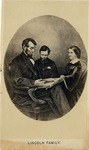 Composite Oval Image of Lincoln Family
