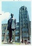 Photograph of Abraham Lincoln Statue at Lincoln High School