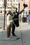 Photograph of Return Visit Statue at Lincoln Square in Gettysburg