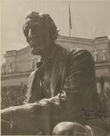 Autographed Photo of Seated Lincoln Statue