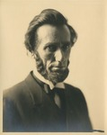 Photograph of Judge Charles E. Bull dressed as Abraham Lincoln.