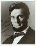 Photograph of Robert Blake Dressed as Abraham Lincoln