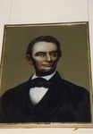 Photograph of Abraham Lincoln Bust Portrait Painting
