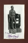 Signed Photograph of Carved Abraham Lincoln Figure