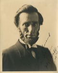 Signed Portrait of Judge Charles E. Bull Dressed as Abraham Lincoln