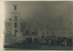 Reproduction Photograph of a Crowd in front of a Church