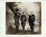 Lincoln, McClellan, and Garrett from a Print from the Original Negative