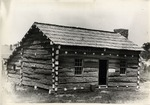 Black and White Photograph of Lincoln's Spencer County Home