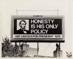 Photograph of Abraham Lincoln Billboard