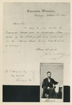 Photographic Reproduction of 1864 John Hay Letter and CdV of Abraham Lincoln